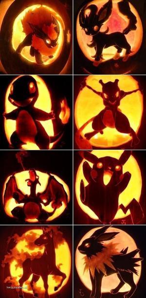 X Pokemon Pumpkins