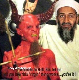 Welcome in hell Osama