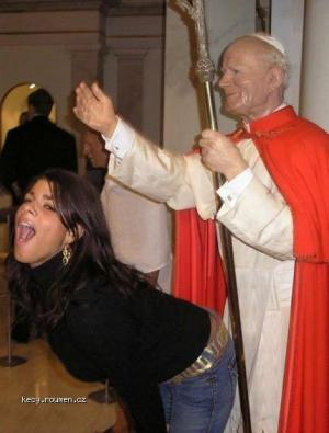 Funny with pope
