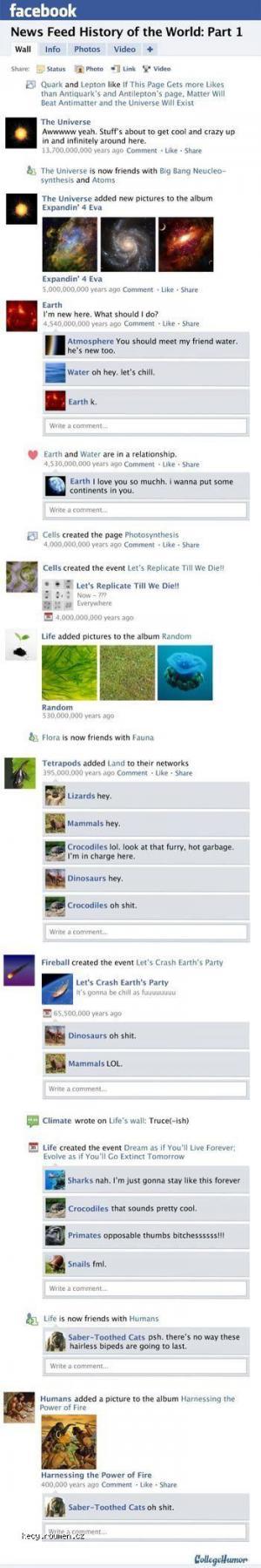 vznik zivota na fb