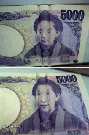 ohnuta bankovka