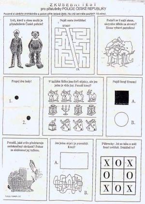 policejni test