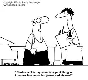 Today cartoon joke  Cholesterol