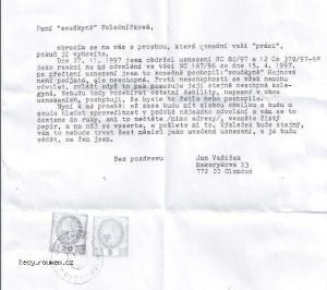 Dopis Soudkyni