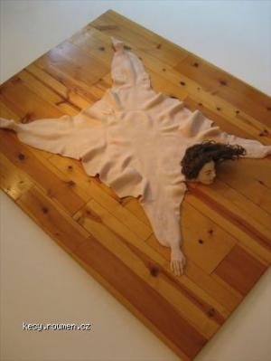 human skin rug