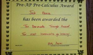 Bermuda Triangle Award
