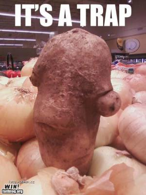 Suspicious potato