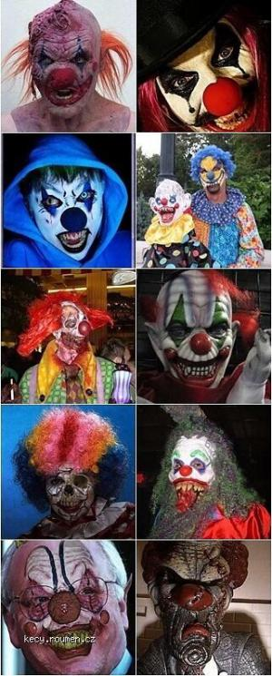 Scary Evil Clowns Faces