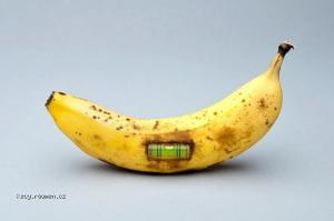 A Banana Spirit Level
