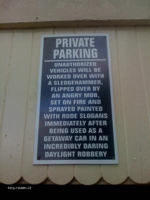 private parking warning