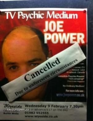 Psychic appearance cancelled