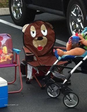 Pedobear childrens lawn chair