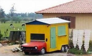 Hamemade caravan