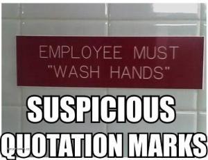 Unnecessary Bathroom Quotation Marks