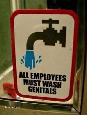 Wash genitals