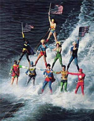 Superheroes Waterskiing of the Day