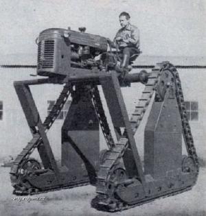 Z historie Podivnej traktor