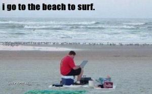 Beach to surf