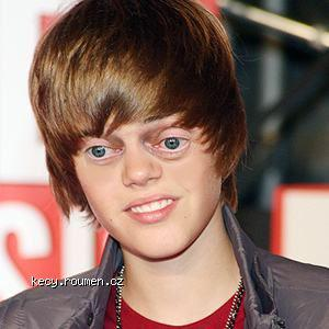 Justin Bieber with Steve Buscemi eyes
