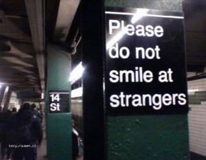 Please do not smile