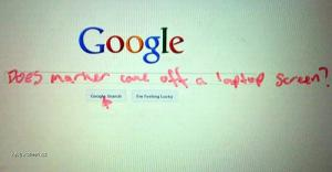Google Search Written with Marker