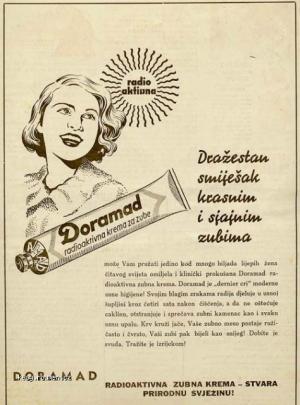 radioaktivna krema za zube