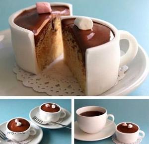 Cup cake coffee
