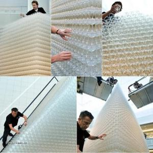 World Largest Champagne Fountain  7 meters 8750 kg 30856 glasses