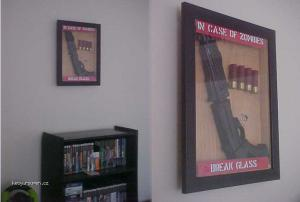 incase of zombies break glass