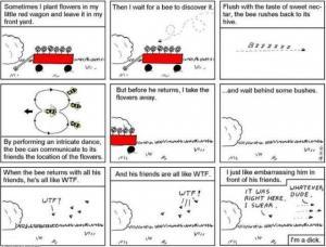 flower wagon bee comic