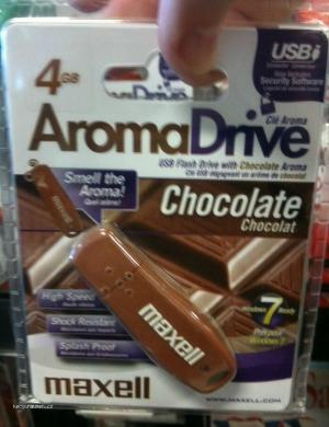 USB flash drive with chocolate aroma