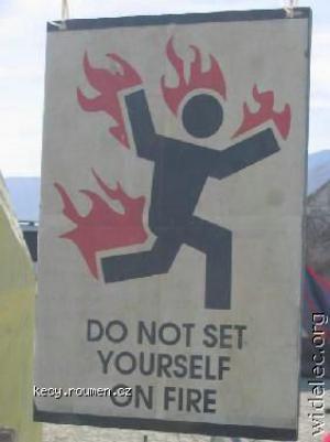 nezapalujte se