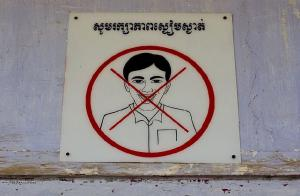 Cambodia No laughing