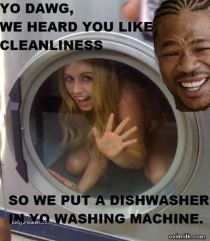 dishwasher in washing machine