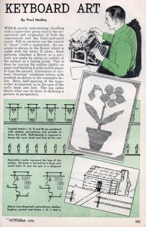 keyboard art 1948