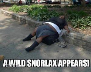 A wild snorlax
