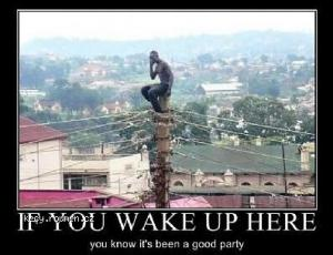 If you wake up here