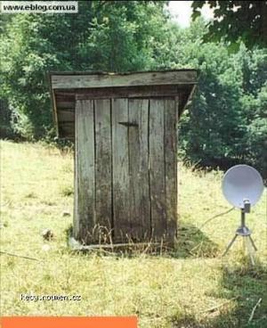 budka se satelitem