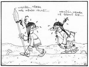 Dva indiáni na pokraji nervového zhroucení