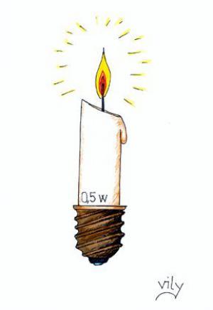 Originální svíčka na baterky