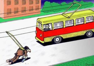 Trolejbus s jedním cestujícím