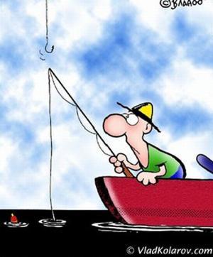 Jak ulovit místo ryby rybáře?