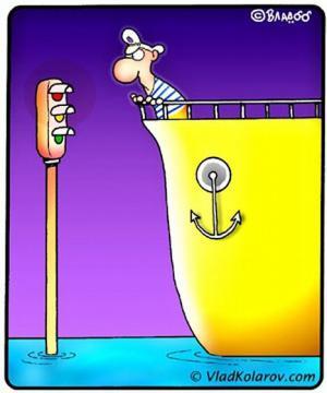 Jak vypadá semafor pro lodníky?