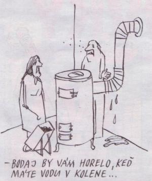 Máte vodu v koleni, takže vám to nevzplane