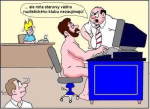 Nudistický klub v práci