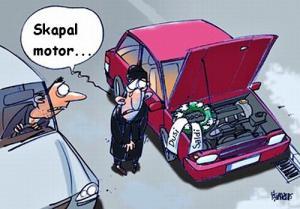 Bohužel mi skapal motor, co teď?