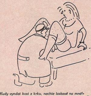 Když přijdeš na ORL a vyšetří tě gynekolog