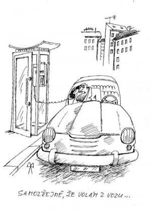 Když muž volá z jeho vozu