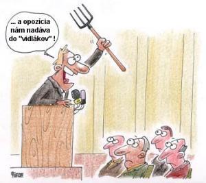 Opozice vs. vidlákova
