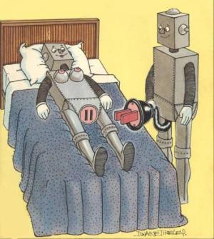 Jak vypadá souložení mezi roboty